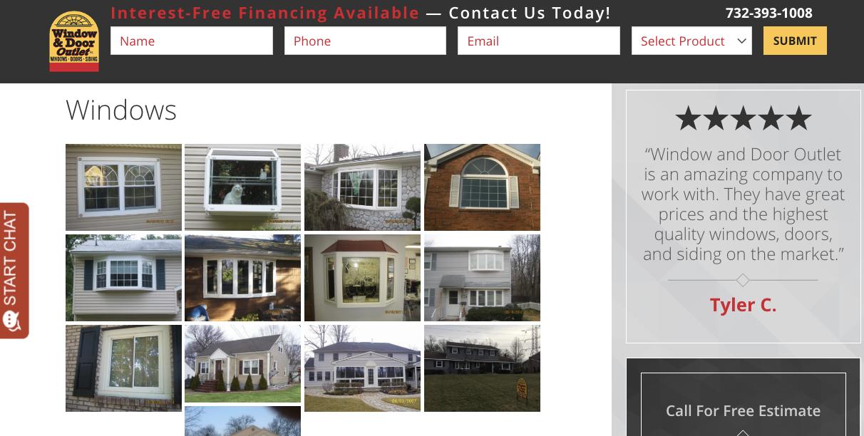 Window Dealer Website 3